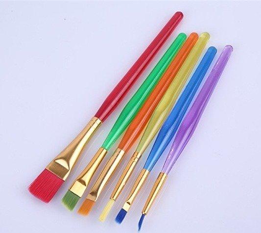 Rainbow Brushes - Set of 6