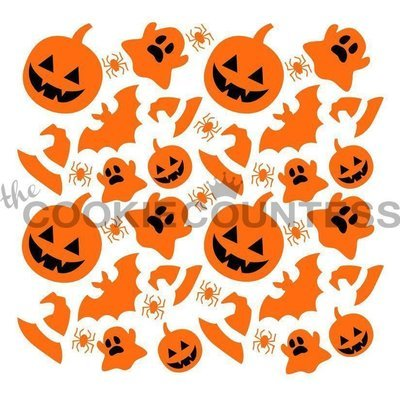 Happy Halloween Stencil Set by The Cookie Countess