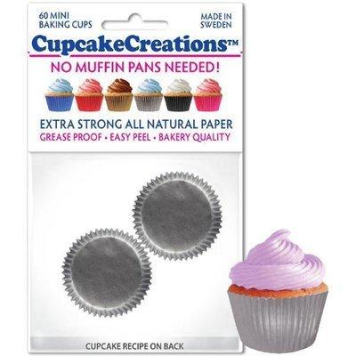 Silver Mini Cupcake Liners - pkg of 60