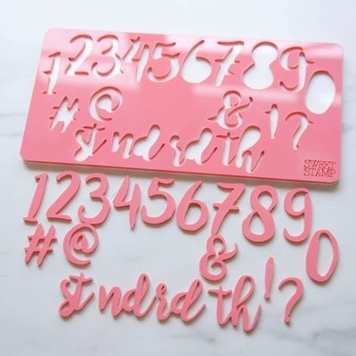 Sweet Stamp Numbers & Symbols - Stylish