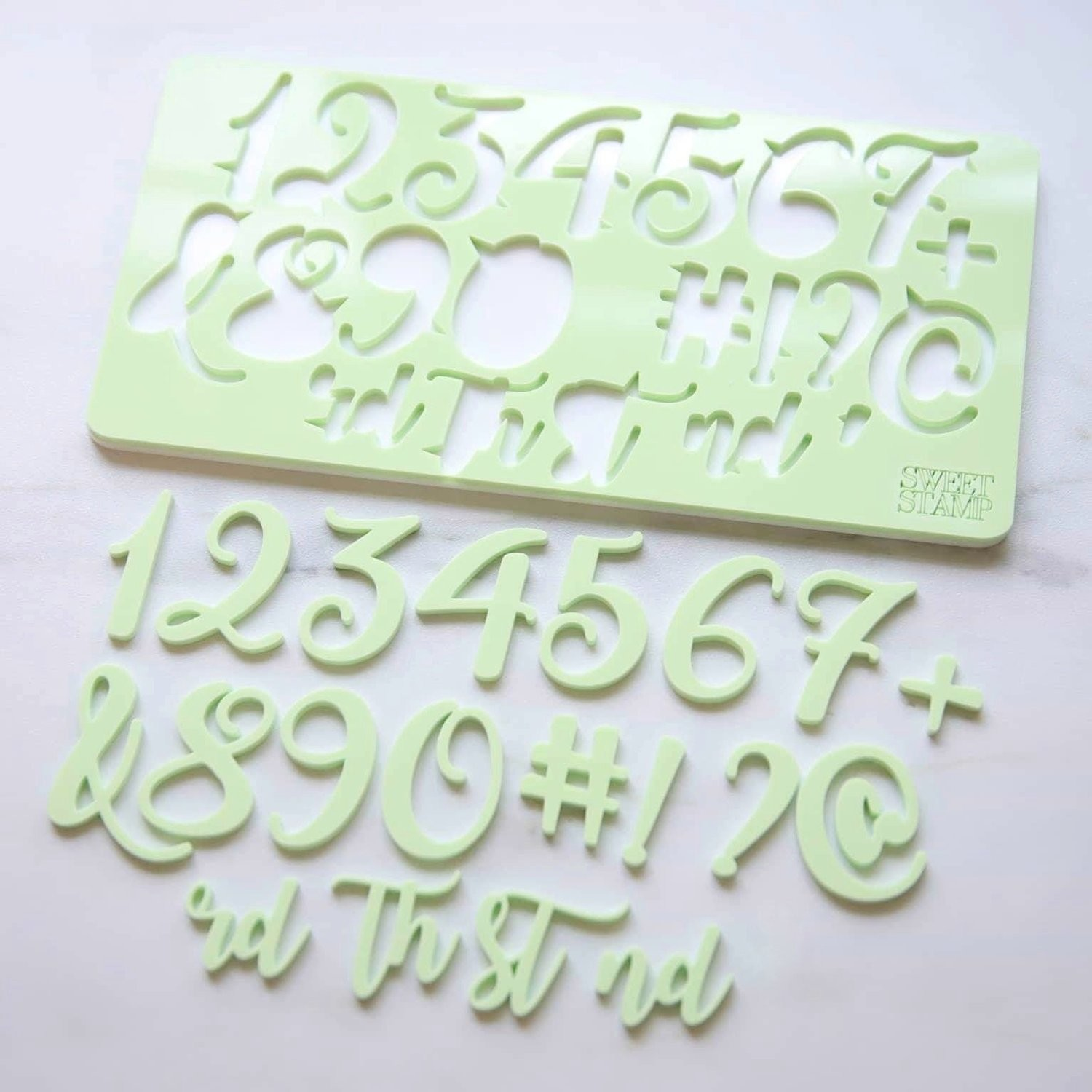 Sweet Stamp Numbers & Symbols - Curly
