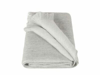 ALPACA LOCA huivi | Vaaleanharmaa/valkoinen