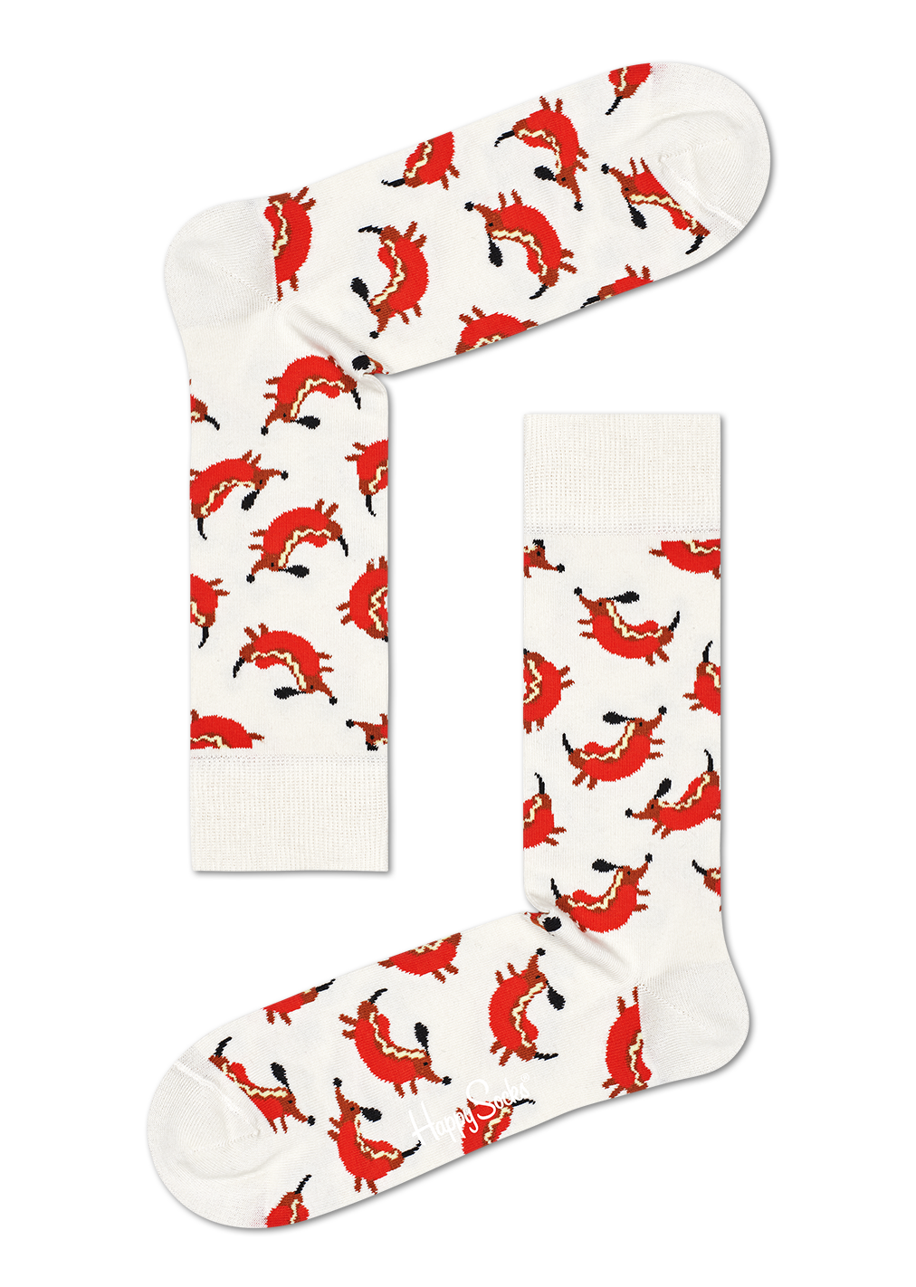 HAPPY SOCKS |  HOT DOG WHITE