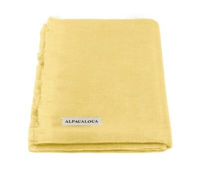 ALPACA LOCA huivi | Soft yellow