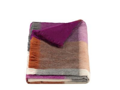 ALPACA LOCA huivi | Blocked Violet/Rusty& Naturals