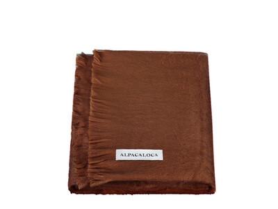 ALPACA LOCA huivi | Chocolate Brown