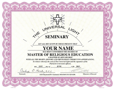 Accredited Master of Religious Education or Chaplaincy (+$150)