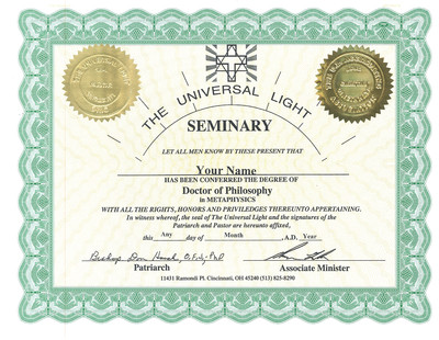 PhD in Metaphysics or Parapsychology (+$200)