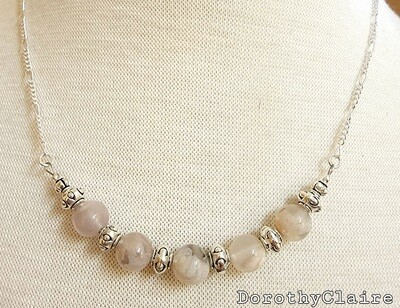 Sakura Agate Necklace