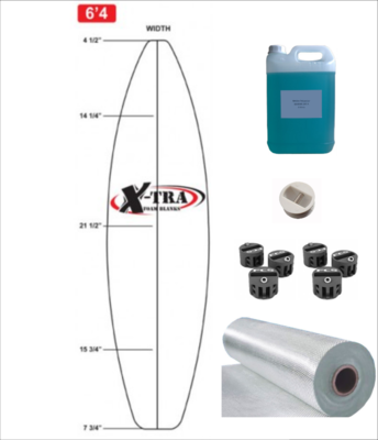 Kit DIY PU Shortboard até 6'6