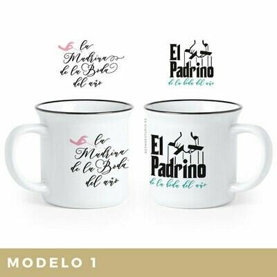 2 Tazas Regalo. Madrina & Padrino de Boda