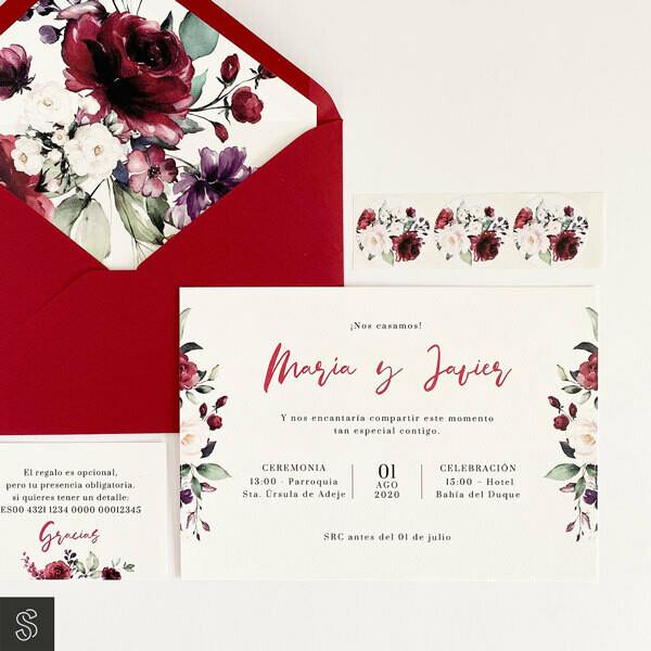 Invitaciones - Mi Amor Granate (A5)