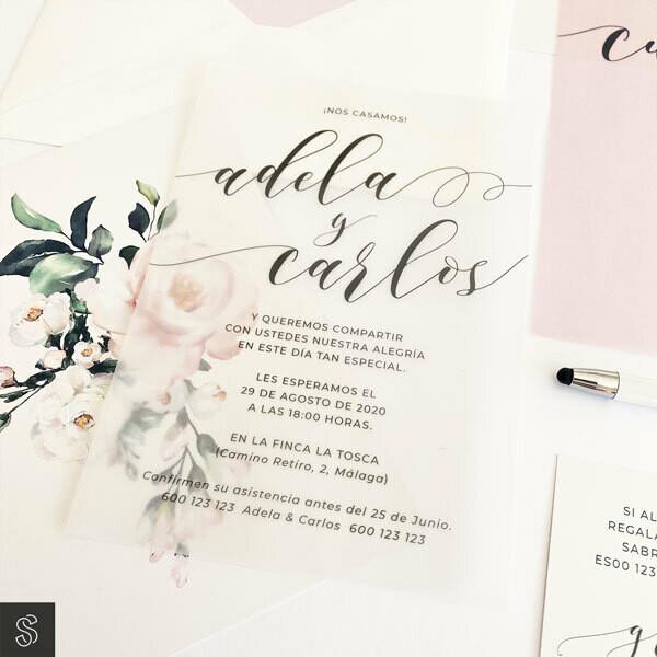 Invitaciones - Romántica y Delicada (A5)