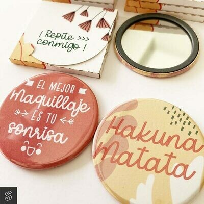 Chapas Espejo con Packaging