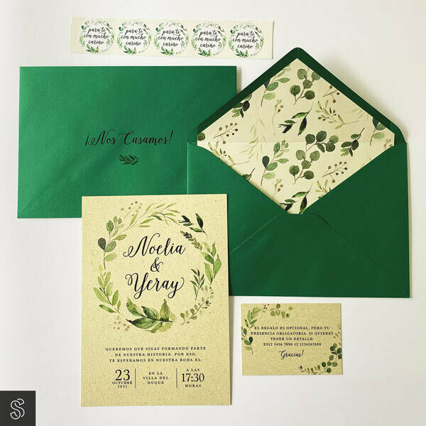 Invitaciones - Verde que te quiero verde (A5)