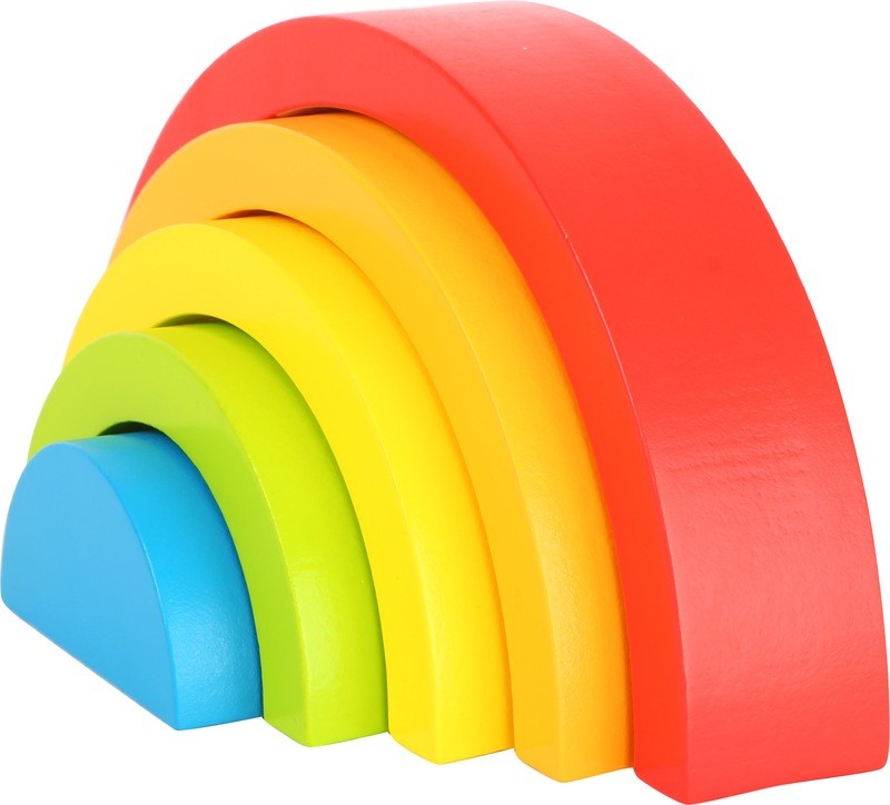 Wooden Building Blocks Rainbow