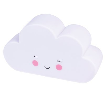 Cloud night light with white LED and on/off switch