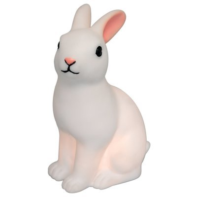 White rabbit shaped LED night light with on/off switch