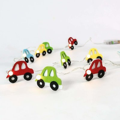 Battery Fabric Car Indoor Fairy Lights, 1.35m