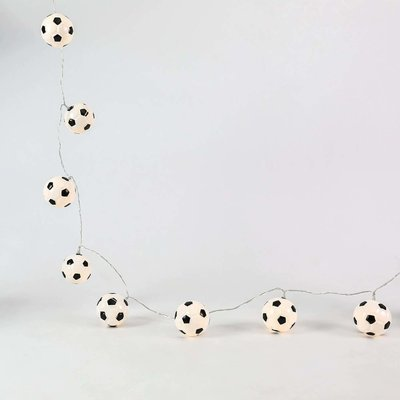 Battery Football Indoor Fairy Lights, 10 Warm White LEDs