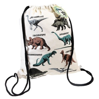 Prehistoric Land Dinosaur Drawstring Bag