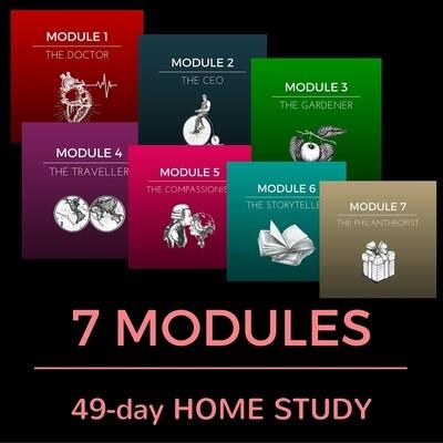 7 MODULES (49 Classes) HOME STUDY