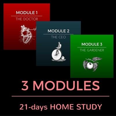 3 MODULES (21 Classes) HOME STUDY