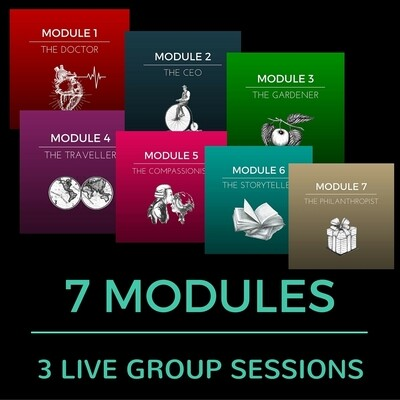 7 MODULES (49 CLASSES) WITH 3 LIVE GROUP SESSIONS