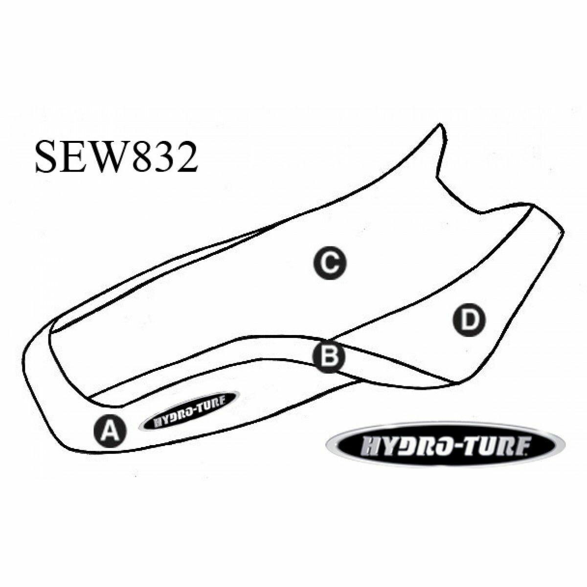 """HYDROTURF STANDARD - SEADOO - XP (95) / SPX (99) """"Hump Seat"""""""
