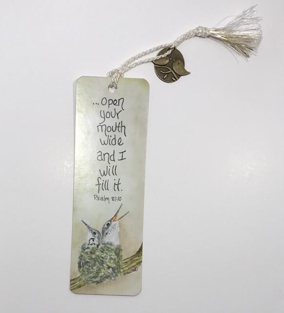 Baby Hummingbirds bookmark