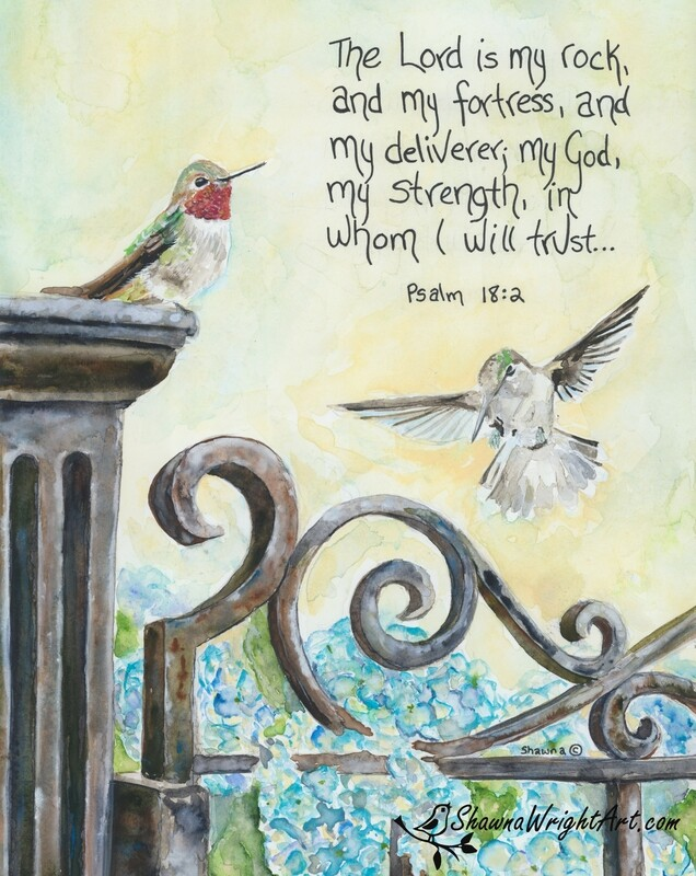 Psalm 18:2 (Signed & Numbered Print)