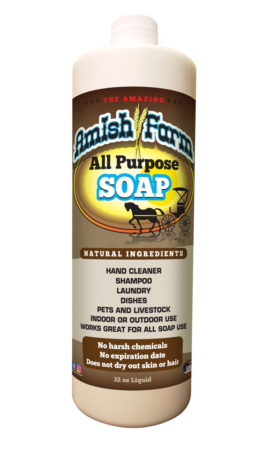 Amish Farms All Purpose Soap (4 pack)