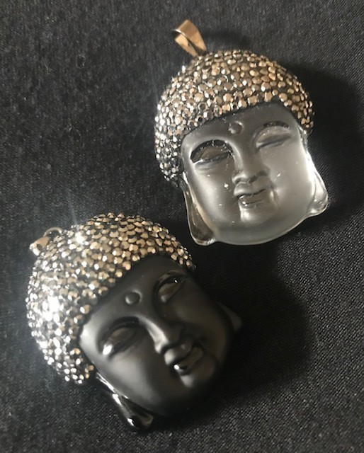 Genuine Crystal Buddha Pendants.