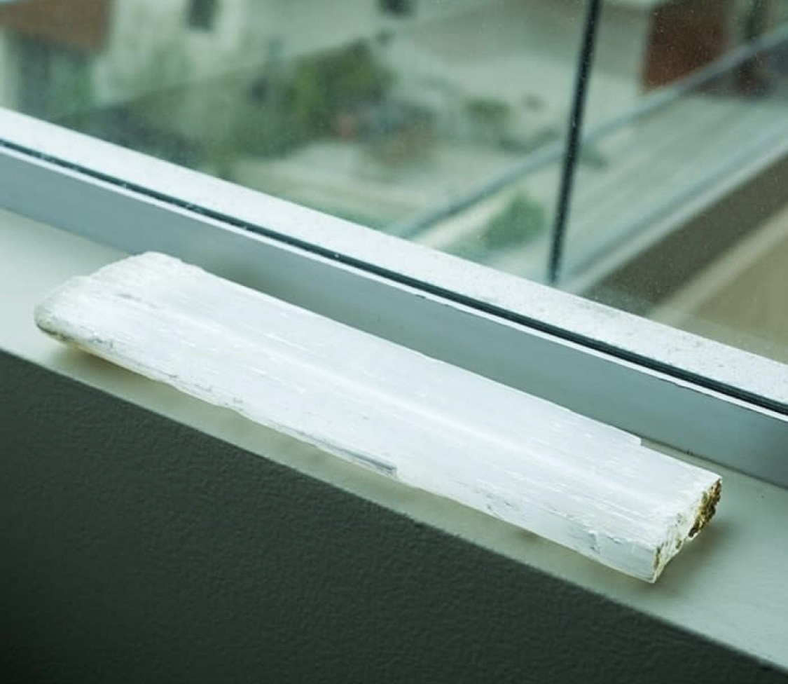 Selenite Peace and Protection Windowsill Wands