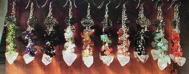 Apophyllite Point Chip Earrings