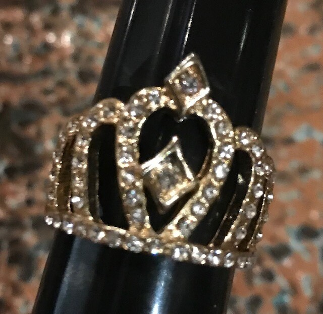 Queen Crown Costume Ring - Size 9.5