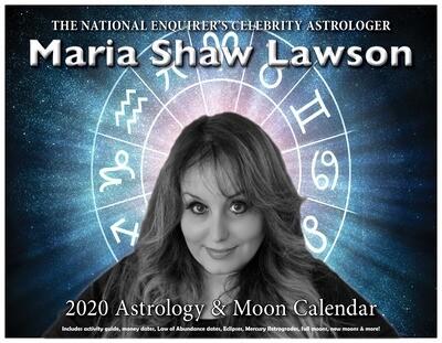Maria Shaw's 2020 Digital Calendar