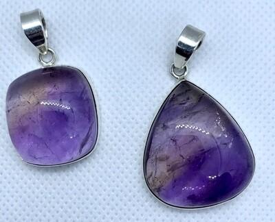 Purple Fluorite Pendants
