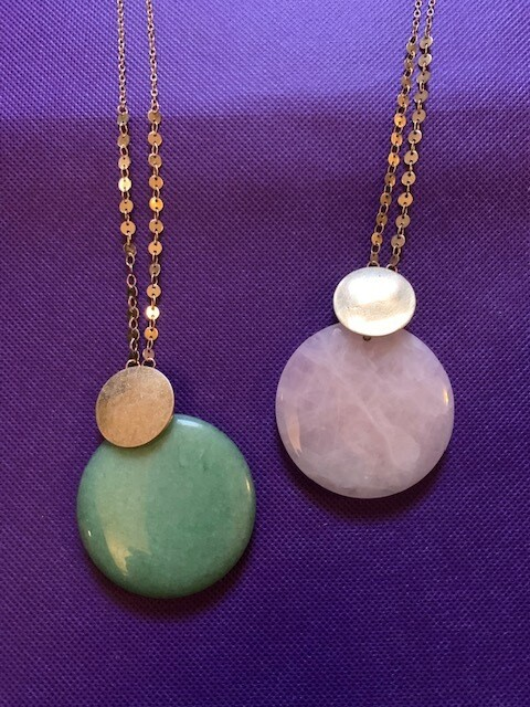 Rose Quartz/Green Aventurine Necklace