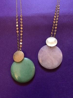 Rose Quartz/Green Aventurine Necklace