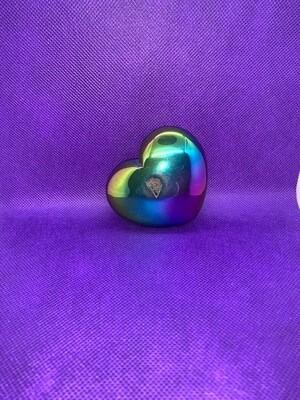 Titanium Druzy Heart