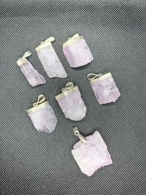 Kunzite Pendants in Sterling Silver