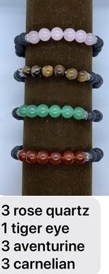 Lava Bracelet with Stones
