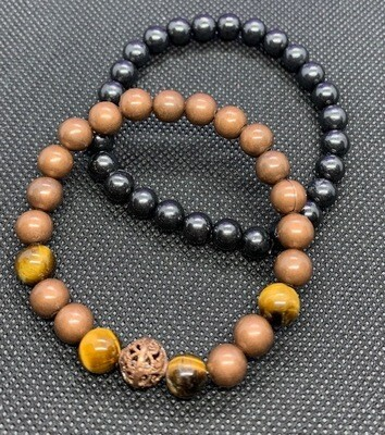 Shungite Harmonizer Bracelets with Tiger Eye