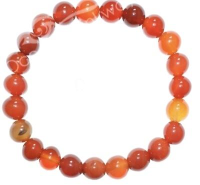 Red Agate 8mm Bracelet