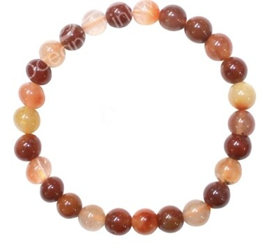 Multi-Colored Rutilated Quartz Bracelet