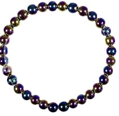 Rainbow Hematite 6mm Bracelet
