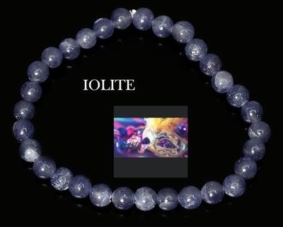 Iolite Beaded Bracelet 6mm to 7mm