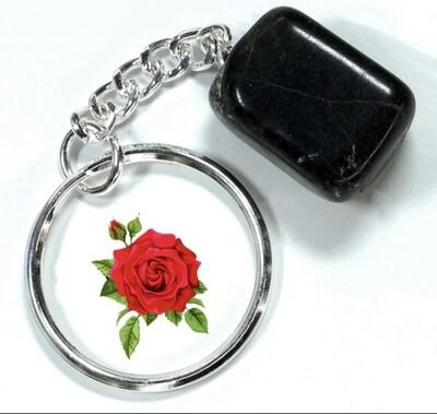 Black Tourmaline Keychain