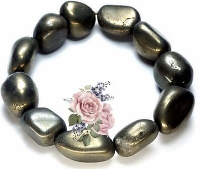 Tumbled Pyrite Stone Bracelet